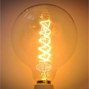 olcso Hagyományos izzó-1db 60 W G125 átlátszó Body Izzólámpa Vintage Edison izzó 220-240 V