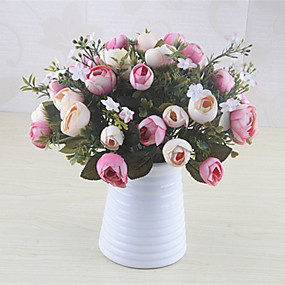 رخيصةأون أزهار اصطناعية-زهور اصطناعية 5 فرع كلاسيكي أوروبي النمط الرعوي Camellia أزهار الطاولة