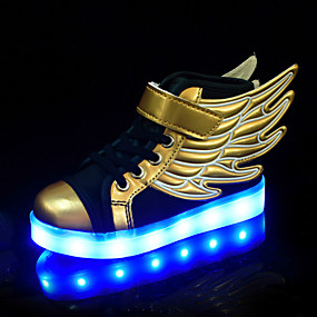 povoljno Dječje cipele-Dječaci / Djevojčice Udobne cipele / Svjetleće tenisice PU Sneakers Dijete (9m-4ys) / Mala djeca (4-7s) / Velika djeca (7 godina +) Vezanje Zlato Proljeće / Jesen / Color block / Guma
