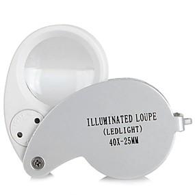 ieftine Lupe-portabil 40x mini buzunar pliere magnifier handheld magnificare instrument bijuterie ochi loupe cu led lumina lampă