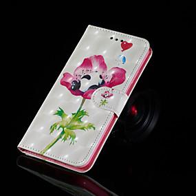 Недорогие Чехлы и кейсы для Huawei серии Y-Кейс для Назначение Huawei Huawei Nova 3i / Huawei Honor 9 Lite / Huawei Honor 8X Кошелек / Бумажник для карт / со стендом Чехол Панда / Цветы Твердый Кожа PU