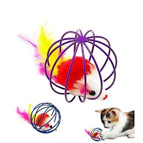 olcso Macskaruhák és kiegészítők-Játékegér Egér és állati játék Macskák Házi kedvencek Játékok 1db Állatok Vájt Ultrakönnyű Plüs Fém Ajándék
