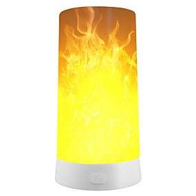 رخيصةأون مصابيح ليد مبتكرة-1PC الصمام ليلة الخفيفة / التخييم في الهواء الطلق في حالات الطوارئ الخفيفة أبيض دافئ USB قابلة لإعادة الشحن / 3 أوضاع / الديكور بطارية / 5 V
