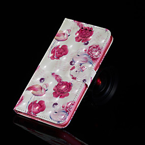 voordelige Galaxy S7 Hoesjes / covers-hoesje Voor Samsung Galaxy S9 / S9 Plus / S8 Plus met standaard / Flip / Patroon Volledig hoesje Flamingo Hard PU-nahka