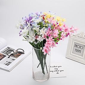 رخيصةأون أزهار اصطناعية-زهور اصطناعية 5 فرع كلاسيكي أسلوب بسيط الأوركيد / السحلبية الزهور الخالدة أزهار الطاولة