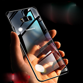 Недорогие Чехлы и кейсы для Galaxy Note 8-Кейс для Назначение SSamsung Galaxy Note 9 / Note 8 / Note 10.1 Прозрачный Кейс на заднюю панель Однотонный Твердый ТПУ