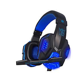 billige PC- og tablettilbehør-litbest pc780 led lys gaming headset stereo surround sound støj annullering kablede gamer hovedtelefoner pubg lol dota gamer øretelefoner med mikrofon auriculares til ps4 pc xbox en