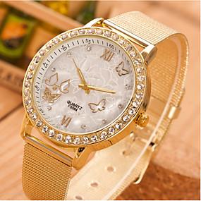 ieftine Cuarț ceasuri-Pentru femei Quartz Quartz Stil Fluture Stras Ceas Casual Analog Auriu / Un an / Oțel inoxidabil / Un an