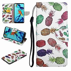 voordelige Huawei Honor hoesjes / covers-hoesje Voor Huawei Honor 9 / Honor 8 / Huawei Honor 7 Kaarthouder / met standaard / Flip Volledig hoesje Voedsel / Cartoon Hard PU-nahka