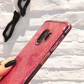 voordelige Galaxy J5(2017) Hoesjes / covers-hoesje Voor Samsung Galaxy J8 (2018) / J7 (2017) / J7 (2018) Beplating / Glitterglans Achterkant Transparant / Glitterglans Zacht TPU