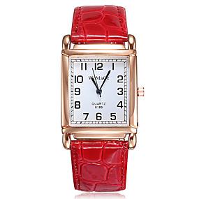 ราคาถูก นาฬิกาควอตซ์-สำหรับผู้หญิง นาฬิกาควอตส์ นาฬิกาอิเล็กทรอนิกส์ (Quartz) รูปแบบชุดเป็นทางการ PU Leather ดำ / สีขาว / แดง นาฬิกาใส่ลำลอง ระบบอนาล็อก แฟชั่น สง่างาม - ขาว สีดำ ทับทิม หนึ่งปี อายุการใช้งานแบตเตอรี่