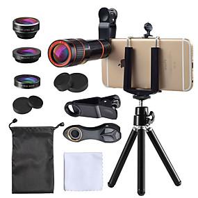olcso Mobiltelefon kamera-Mobiltelefon Lens Halszem-lencse / Hosszú gyújtótávolságú lencse / Nagylátószögű lencse üveg / Műanyag 10X és felett 35 mm 15 m 198 ° Lencse és állvány
