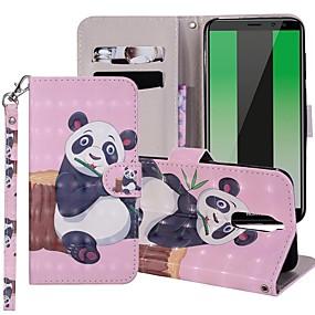 Недорогие Чехлы и кейсы для Huawei Mate-Кейс для Назначение Huawei Mate 10 / Mate 10 lite / Huawei Mate 20 lite Кошелек / Бумажник для карт / со стендом Чехол Панда Твердый Кожа PU