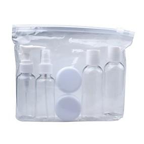 povoljno Putna oprema-Set putnih bočica / Kozmetička torbica PVC Višefunkcijski Jednobojni