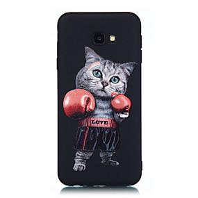 voordelige Galaxy J5(2017) Hoesjes / covers-hoesje Voor Samsung Galaxy J7 Prime / J7 (2017) / J5 Prime Mat / Patroon Achterkant Kat Zacht TPU