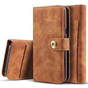 Недорогие Чехлы и кейсы для Galaxy Note 8-Кейс для Назначение SSamsung Galaxy Note 9 / Note 8 Бумажник для карт / Флип / Магнитный Чехол Однотонный Твердый Кожа PU