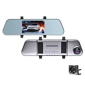 Недорогие Видеорегистраторы для авто-1080p hd зеркало заднего вида потоковое мультимедиа автомобильный видеорегистратор 170 градусов широкоугольный 5-дюймовый ips видеорегистратор с ночным видением / g