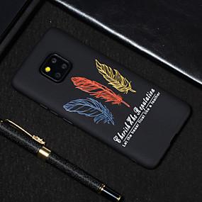 Недорогие Чехлы и кейсы для Huawei серии Y-Кейс для Назначение Huawei Huawei Nova 3i / Huawei Nova 4 / Huawei Honor 9 Lite Матовое / С узором Кейс на заднюю панель Слова / выражения / Перья Мягкий ТПУ