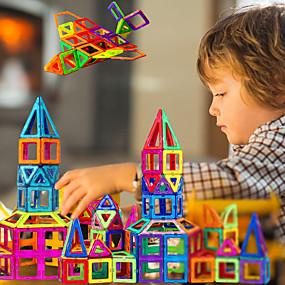 رخيصةأون إكسسوارات الألعاب & الهوايات-مكعبات مغناطيسية البلاط المغناطيسي ألعاب المغناطيس 30-199 pcs متوافق Legoing مغناطيس للصبيان للفتيات أطفال' ألعاب هدية / أحجار البناء