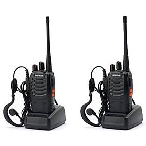 povoljno Tehnologija i gadgeti-2pcs baofeng bf-888s walkie tokie 888s 5w 2800mah 16 kanala 400-470mhz uhf fm primopredajnik 6m dvosmjerni radio comunicador za trke na otvorenom (dajte slušalice)