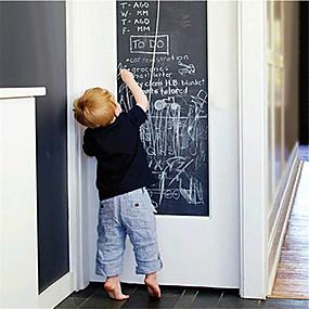 رخيصةأون ملصقات ديكور-1 قطعة 45 * 200 (w * l) سم الجدار ملصق نمط السبورة الإبداعية للكتابة الفنية جدار الفن