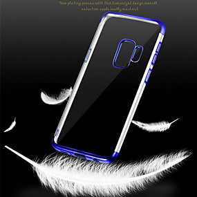 voordelige Galaxy S7 Edge Hoesjes / covers-hoesje Voor Samsung Galaxy S9 / S9 Plus / S8 Plus Beplating Achterkant Transparant Zacht TPU