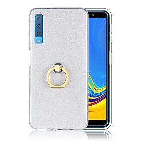 voordelige Galaxy A7(2016) Hoesjes / covers-hoesje Voor Samsung Galaxy A5(2018) / Galaxy A7(2018) / A3 (2017) Schokbestendig / Ringhouder / Ultradun Achterkant Glitterglans Zacht TPU