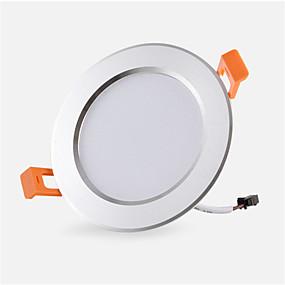 olcso Beépíthető-1db 3 W 300 lm 6 LED gyöngyök Könnyű beszerelni Süllyesztett kapcsolók LED mélysugárzók Meleg fehér Hideg fehér 85-265 V Kereskedelmi Otthon / iroda Hálószoba / RoHs / CE