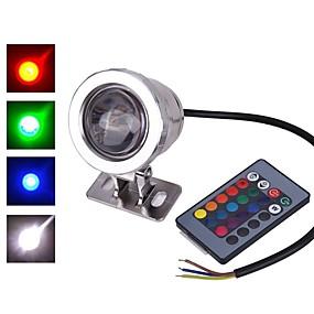 povoljno LED reflektori-1pc 10 W LED reflektori Vodootporno / Daljinski upravljano / Infracrveni senzor RGB 12 V / 85-265 V Vanjska rasvjeta / Dvorište / Vrt 1 LED zrnca / Zatamnjen