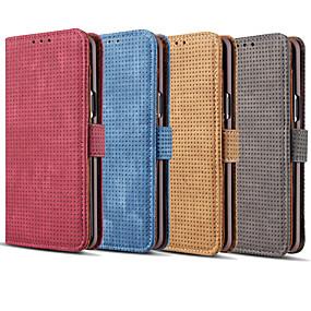 voordelige Galaxy S7 Edge Hoesjes / covers-hoesje Voor Samsung Galaxy S9 / S9 Plus / S8 Plus Kaarthouder / Flip Volledig hoesje Effen Hard PU-nahka