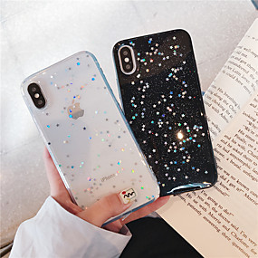 voordelige iPhone 11 Pro Max hoesjes-hoesje voor apple iphone xr / iphone xs max glitter shine / patroon achterkant glitter shine soft tpu voor iphone x / xs / 6/6 plus / 6s / 6s plus / 7/7 plus / 8/8 plus