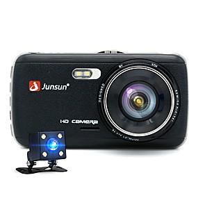 Недорогие Видеорегистраторы для авто-JUNSUN H7 1296P HD Давление Автомобильный видеорегистратор 170 градусов широкоугольный 1/3 дюйма цветной смос 4-дюймовый ips видеорегистратор с ночным видением / g-датчик / обнаружение движения 2