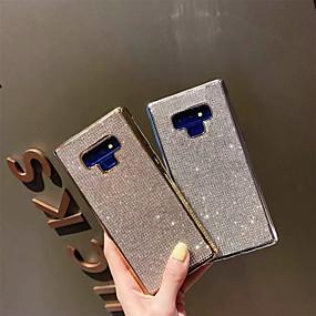Недорогие Чехлы и кейсы для Galaxy Note 8-Кейс для Назначение SSamsung Galaxy Note 9 / Note 8 Стразы Кейс на заднюю панель Однотонный Мягкий ТПУ