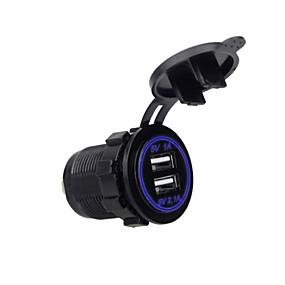 Недорогие Автоэлектроника-5v 3.1a двойной usb порт автомобильное зарядное устройство светодиодная розетка для ipad iphone автомобиль мотоцикл лодка мобильные телефоны