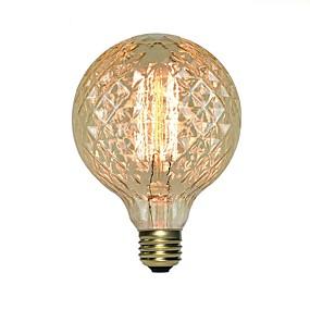 olcso Hagyományos izzó-1db 40 W E26 / E27 G95 Izzólámpa Vintage Edison izzó 220-240 V / 110-130 V