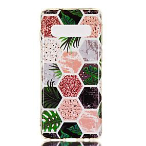 voordelige Galaxy S7 Hoesjes / covers-hoesje Voor Samsung Galaxy S9 / S9 Plus / S8 Plus IMD / Patroon Achterkant Marmer Zacht TPU