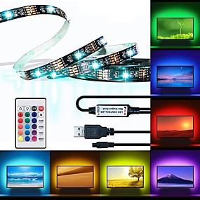 رخيصةأون شريط الضوء LED-brelong led tv الخلفية 2 متر 60led 10 ملليمتر الايبوكسي للماء متعدد الألوان usb tv الخلفية مع تحكم الأشعة 24 مفاتيح بعيد هالوين التلفزيون خلفية الكمبيوتر الإضاءة 5 فولت