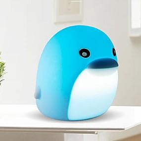 povoljno LED noćna rasvjeta-Dupin kitova LED noćno svjetlo / Noćno svjetlo dječjeg vrtića Može se puniti / Slatko / Dodirni senzor USB 1pc