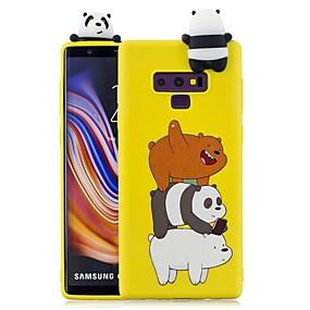 Недорогие Чехлы и кейсы для Galaxy Note 8-Кейс для Назначение SSamsung Galaxy Note 9 / Note 8 С узором Кейс на заднюю панель Животное / Мультипликация Мягкий ТПУ