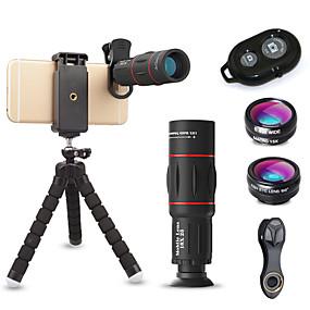 olcso Mobiltelefon kamera-Mobiltelefon Lens Halszem-lencse / Hosszú gyújtótávolságú lencse / Nagylátószögű lencse üveg / Alumínium ötvözet 10X és felett 32 mm 3 m 9.6 ° Lencse és állvány / Kreatív / Menő