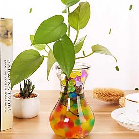 billige Trædekorationer-3000pc / pose perleformet hydrogel krystal jord vandperler bio gel mudder vokse magiske gelé bolde orbiz til blomst bryllup hjem indretning