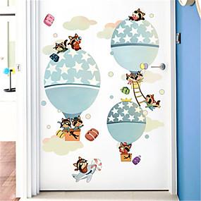 povoljno Ukrasne naljepnice-crtani dječja soba vrući zrak balon samoljepljive pozadine spavaća soba noćna pozadina dekorativne zidne naljepnice vrtić besplatno naljepnice