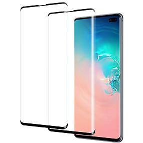 Недорогие Чехлы и кейсы для Galaxy S-Samsung GalaxyScreen ProtectorGalaxy S10 Уровень защиты 9H Защитная пленка на всё устройство 2 штs Закаленное стекло