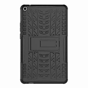 Недорогие Чехол для планшета Huawei-Кейс для Назначение Huawei MediaPad Huawei MediaPad T3 8.0 Защита от удара / со стендом Кейс на заднюю панель броня Твердый пластик