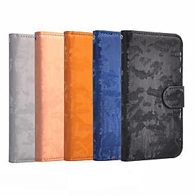 Недорогие Чехлы и кейсы для Galaxy Note 8-Кейс для Назначение SSamsung Galaxy Note 9 / Note 8 Кошелек / Бумажник для карт / Флип Чехол Однотонный Твердый Кожа PU
