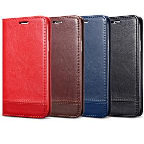 Недорогие Чехлы и кейсы для Galaxy Note 8-Кейс для Назначение SSamsung Galaxy Note 9 / Note 8 / Note 5 Бумажник для карт / Флип Чехол Однотонный Твердый Кожа PU