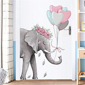 voordelige Decoratiestickers-creatieve eenvoudige olifant muurstickers veranda gang muurstickers slaapzaal slaapkamer deur stickers decoraties zelfklevend behang