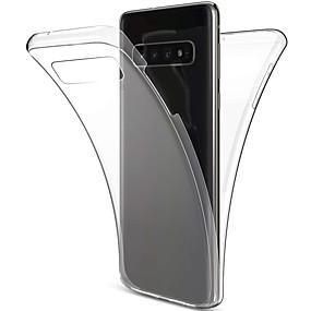voordelige Galaxy S7 Edge Hoesjes / covers-hoesje Voor Samsung Galaxy S9 / S9 Plus / S8 Plus Schokbestendig / Ultradun / Transparant Volledig hoesje Effen Zacht TPU