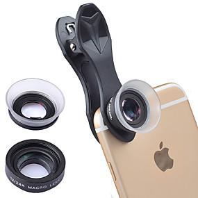 olcso Mobiltelefon kamera-Mobiltelefon Lens Makró objektív üveg / ABS + PC 20X makró 25 mm 15 m 80 ° Bájos / Vicces