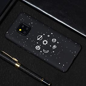 Недорогие Чехлы и кейсы для Huawei серии Y-Кейс для Назначение Huawei Huawei Nova 3i / Huawei Nova 4 / Huawei Honor 9 Lite Матовое / С узором Кейс на заднюю панель Цвет неба Мягкий ТПУ